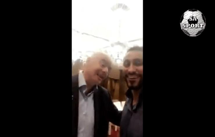 بالفيديو.. سامي الجابر مع رئيس الفيفا