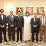 بالصور.. آل الشيخ يستقبل وزير الشباب والرياضة العراقي