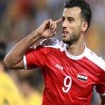 """بالفيديو.. """"السومة"""" يسجل هدف تعادل سوريا مع قطر في بطولة الصداقة الودية"""