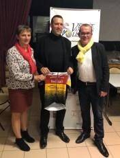 Martine SERO aux cotes de Fabrice BLEVIN et Yannick GUEGUEN