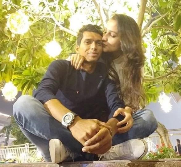 Navdeep Saini and Pooja Bijarnia