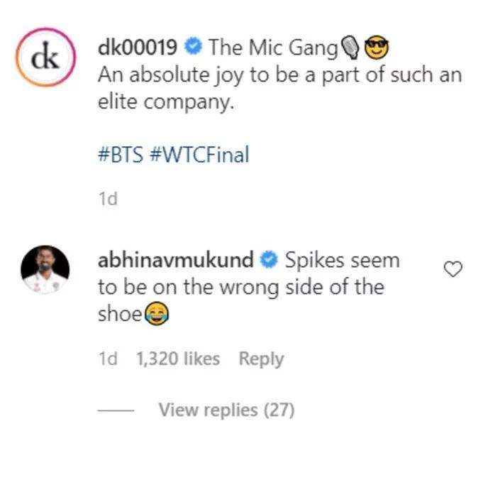 Abhinav Mukund's comment