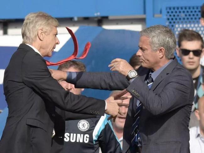 Image result for Mourinho teases Wenger