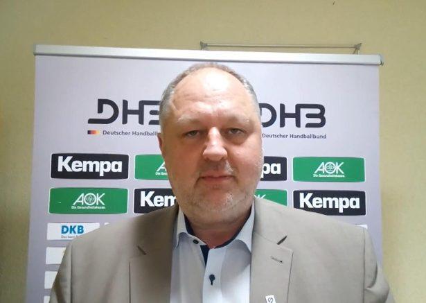 Andreas Michelmann, DHB-Präsident, anlässlich des Länderspiels der Frauen zwischen Deutschland und Russland in Dessau-Roßlau – Foto: SPORT4FINAL