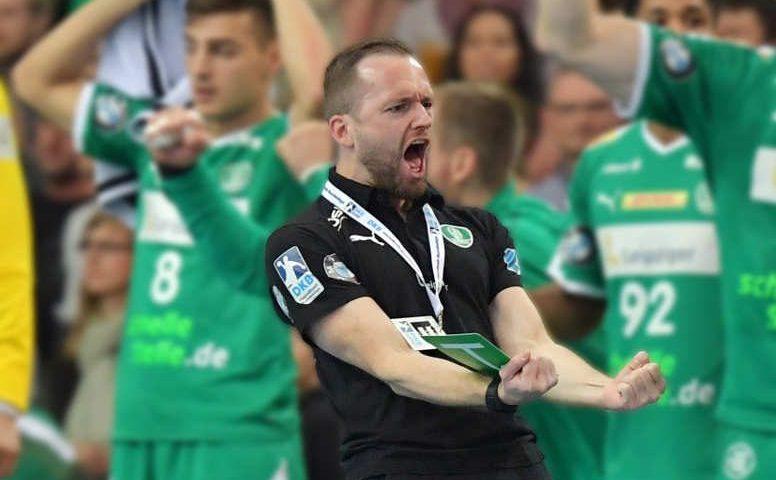 Andre Haber - SC DHfK Leipzig vs. THW Kiel - Handball Bundesliga - Foto: Rainer Justen