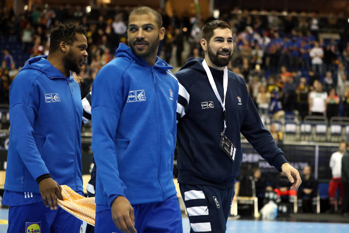 Handball WM 2019 Cedric Sorhaindo (li.) und Nikola Karabatic (r.) - Frankreich - Copyright: FFHandball / S. Pillaud