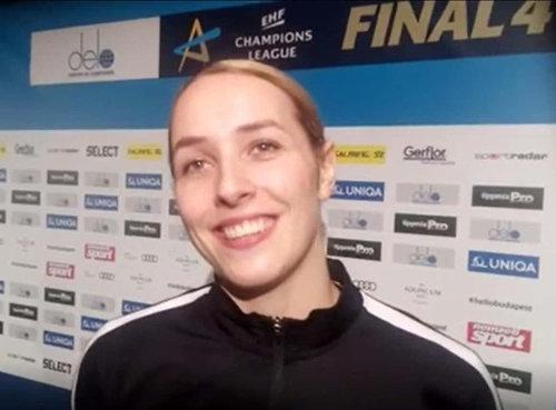 Handball DELO Frauen EHF Champions League Final4 Budapest 2019: Lois Abbingh (HC Rostov-Don) im SPORT4FINAL-Interview