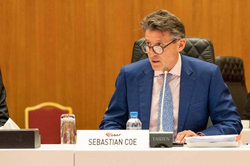 Leichtathletik WM 2019 - IAAF Präsident Sebastian Coe - IAAF Council Meeting Doha 23 Sep 2019 - Foto: © Matthew Quine for IAAF