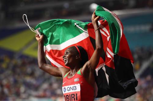 Leichtathletik WM 2019 - Hellen Obiri - Foto: © Getty Images for IAAF