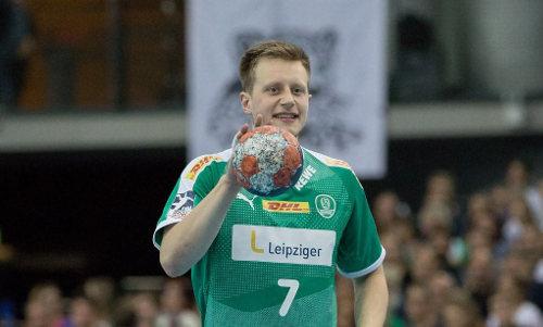 Luca Witzke - SC DHfK Leipzig - Handball DHB Pokal gegen MT Melsungen - Foto: Karsten Mann