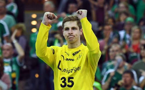 Joel Birlehm - SC DHfK Leipzig vs. SC Magdeburg - Handball Bundesliga am 03.11.2019 in Arena Leipzig - Foto: Rainer Justen