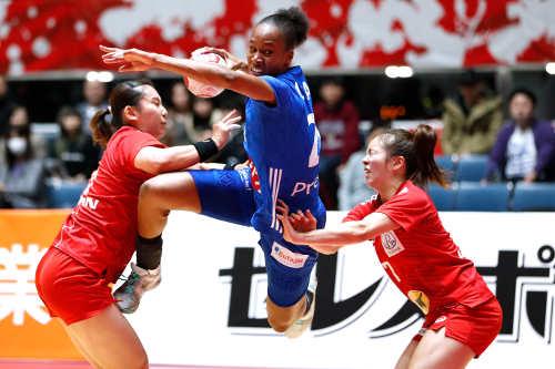 Orlane Kanor - Frankreich vs. Japan - Japan Cup 2019 - Foto: FFHandball / S. Pillaud