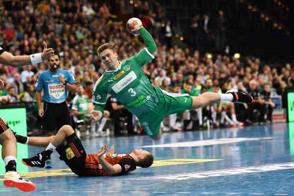 Franz Semper - SC DHfK Leipzig - TSV Hannover-Burgdorf - Handball Bundesliga am 01.12.2019 - Foto: Rainer Justen