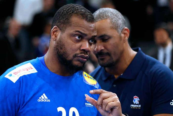 Handball EM 2020 Test - Kapitän Cedric Sorhaindo und Cheftrainer Didier Dinart - Frankreich vs. Dänemark - Handball Golden League 2020 - Foto: FFHandball / S. Pillaud