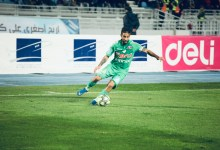 Mohsine Moutouali of Raja Athletic Club in action during the Botola match between IRT V RCA.(By Abdou Ouassif, SPORT7.ma)