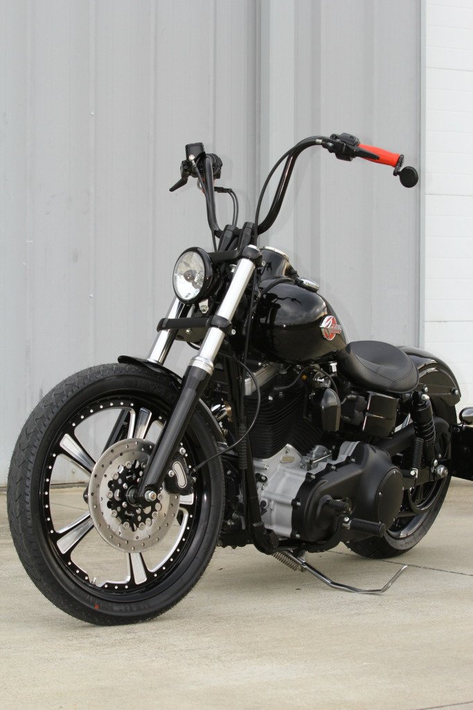 Black Betty Harley Bobber