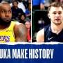Lebron James Luka Doncic Unprecedented Triple Double Duel