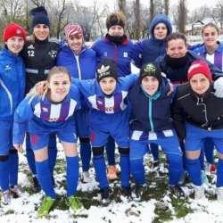 Fotbalistele Aradului - învingătoare în ultima etapă a turului: Piroș Security e vicecampioană de toamnă