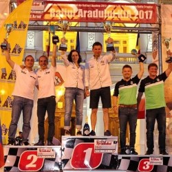 Marișca - Poenaru, marii câștigătorii ai Raliului Aradului  2017