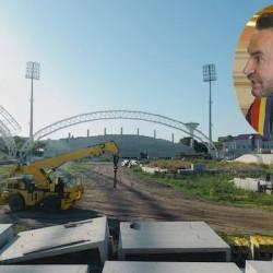 """Falcă, în pielea lui Stan Pățitul: """"Am demarat procedurile unei licitații paralele la investiția CNI în stadionul UTA"""" Dar când se taie panglica?"""