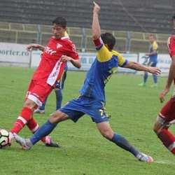 """Al doilea Miculescu în """"alb-roșu""""! David a debutat la 16 ani și 4 luni cu tricoul lui Man: """"Vreau să-mi depășesc tatăl, să joc cu UTA în Liga 1"""""""