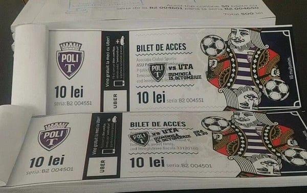 Biletele la Poli - UTA se pun în vânzare de mâine (și) la Arad