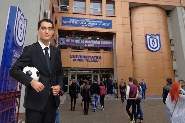 Burleanu vine la Arad pentru festivitatea de deschidere a cursului de administrator structuri sportive de la UAV