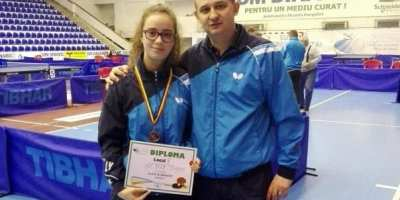Junioara Rus ia bronzul la Cupa României de tenis de masă