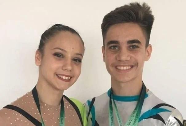 Rugină și Țavoc - medalii mondiale pentru gimnastica aerobică arădeană