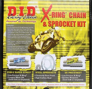 DID 525VX Chain and Sprocket Kit Kawasaki Z1000 07-09