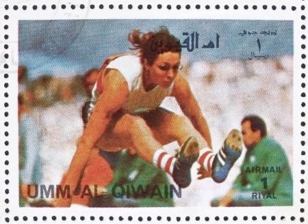 heide_rosendahl_1972_umm_al-quwain_stamp-silber-5-kampf