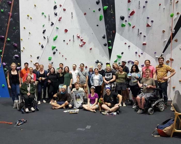 Adaptive Climbing Movie Night - Russell