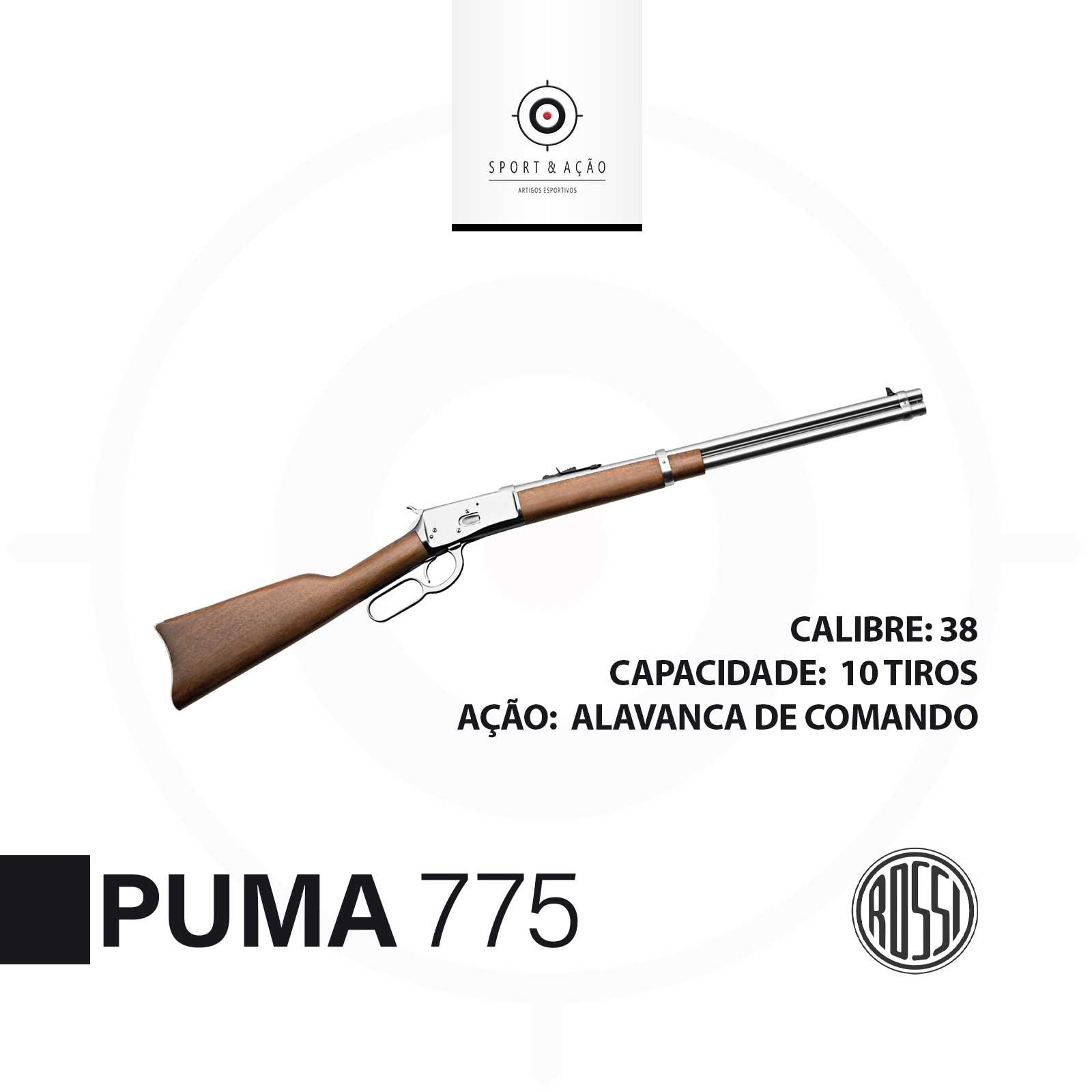 Carabina Rossi Puma Calibre 38 Sport Acao