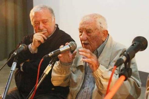 Gianni Minà e Alberto Granado al cinema Jolly di San Nicolò nel 2004