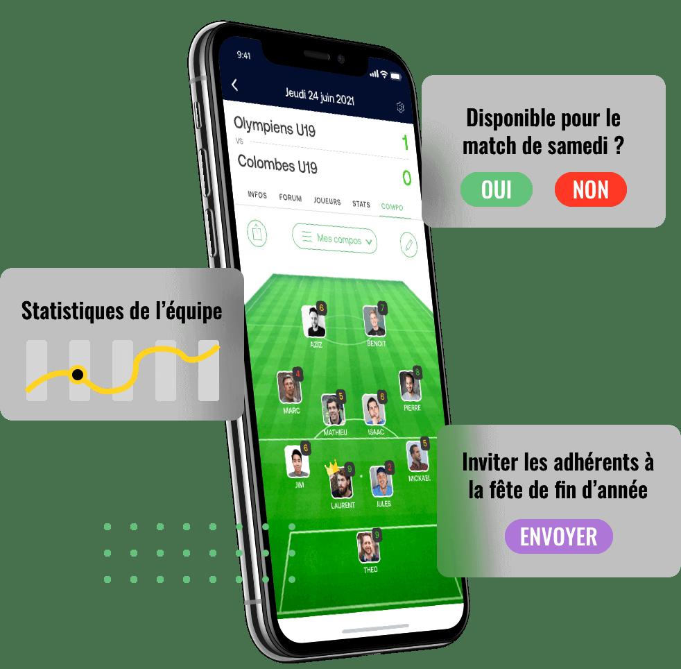 Application SportEasy pour Club100Premium Digital