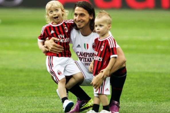 Zlatan with his kids