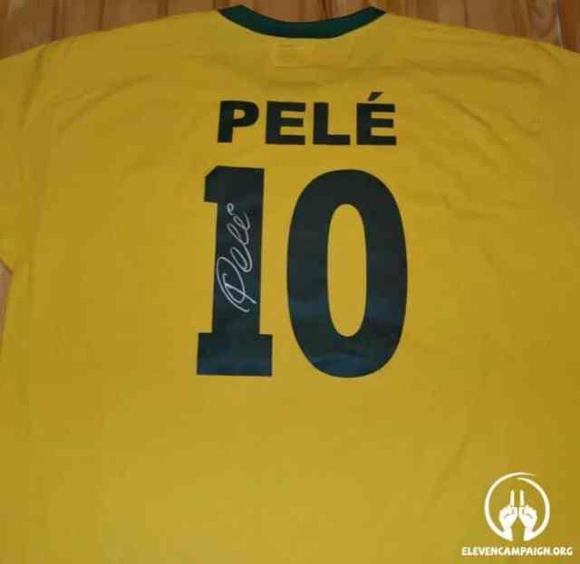 Pele signed Brazil 1970-sportescu