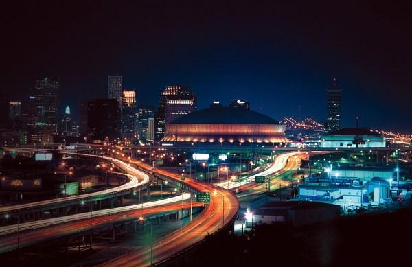 SuperDome de nuit - La Nouvelle Orléans