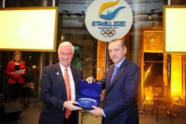 Sir Craig Reedie - Recep Tayyip Erdogan - Istanbul 2020