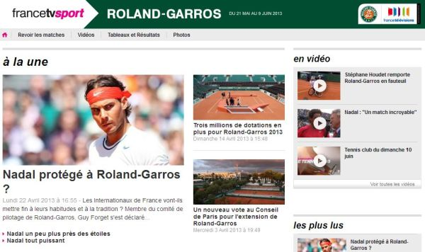 FranceTVSport - Roland Garros