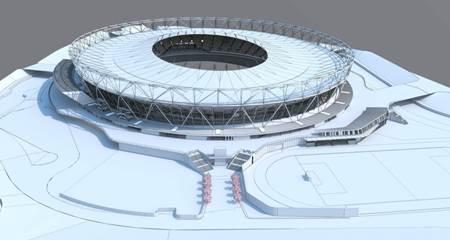 Reconversion du Stade Olympique Londres - extension de la toiture