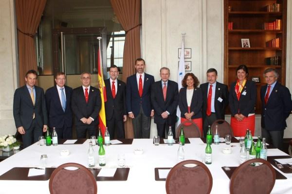 Délégation de Madrid 2020 et le Président du CIO Jacques Rogge - 04 juillet 2013