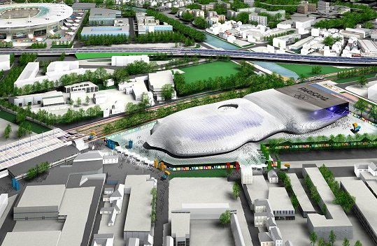 Centre Aquatique - projet de Paris 2012