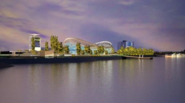 Nouveau Centre Aquatique de Budapest - panorama