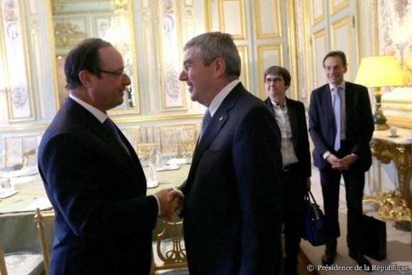 Thomas Bach - François Hollande - 2