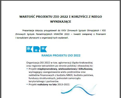 Budget Cracovie2022