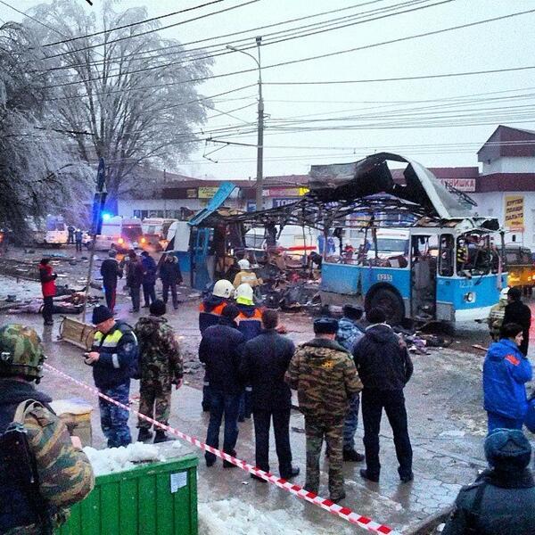 Explosion d'un trolleybus à Volgograd