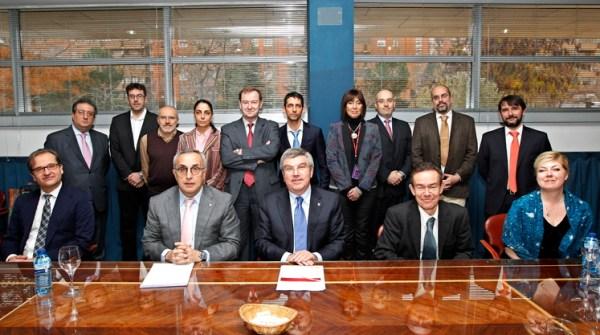 Thomas Bach et les autorités sportives d'Espagne