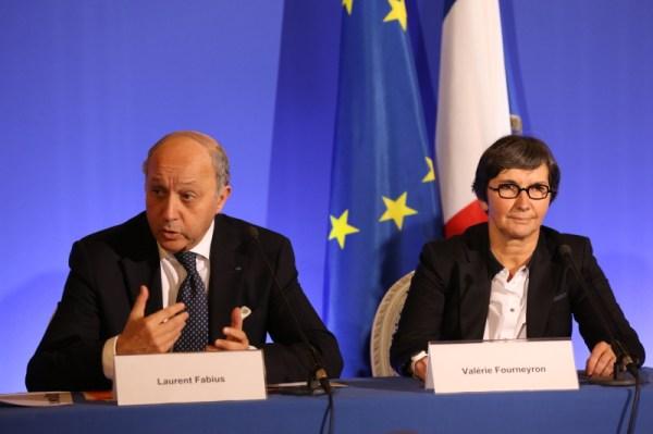 Laurent Fabius et Valérie Fourneyron