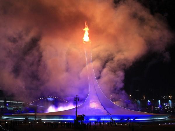 Flamme olympique Sotchi 2014